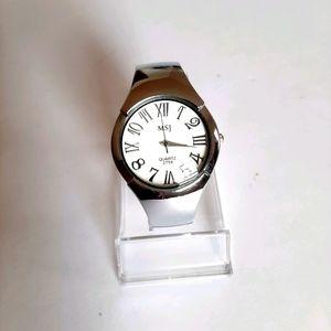 MSJ Silver Bangle Watch